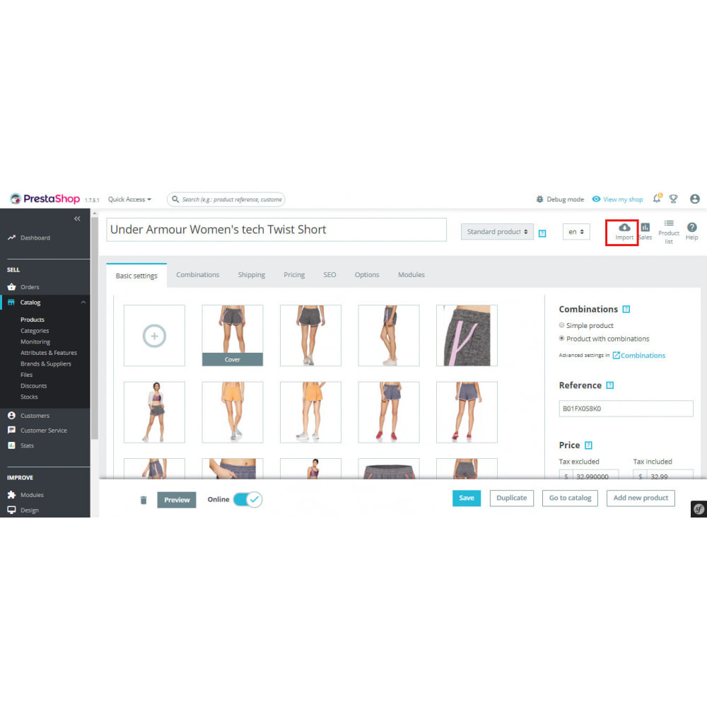 module - Импорт и Экспорт данных - Copy Products From Amazon marketplace | Import Products - 1