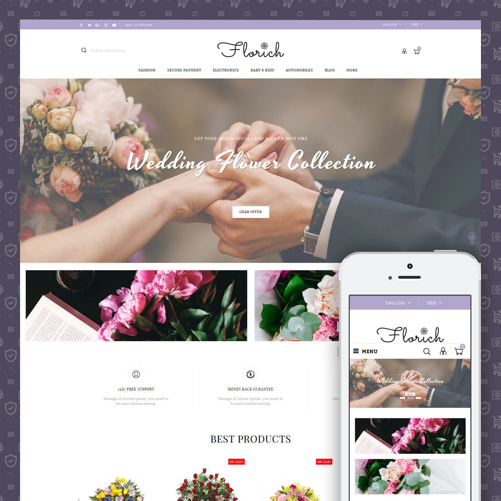 theme - Gifts, Flowers & Celebrations - Florich - Wedding Flowers Store - 1