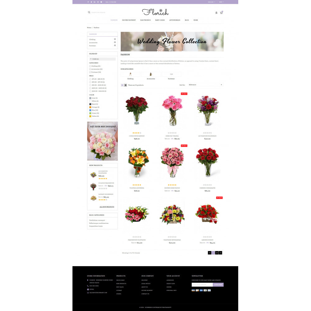 theme - Gifts, Flowers & Celebrations - Florich - Wedding Flowers Store - 3