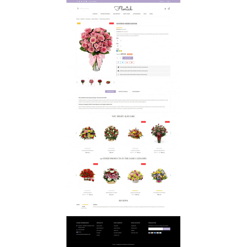 theme - Gifts, Flowers & Celebrations - Florich - Wedding Flowers Store - 5