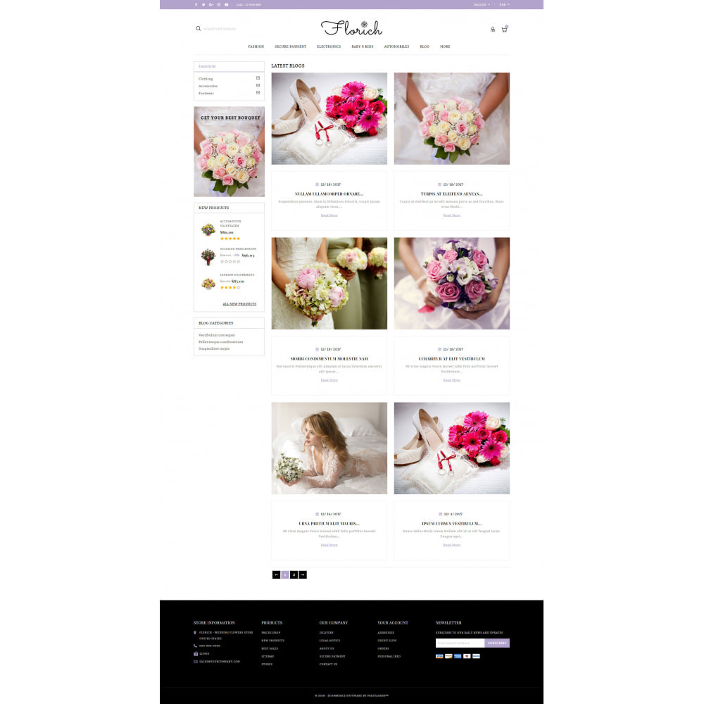 theme - Gifts, Flowers & Celebrations - Florich - Wedding Flowers Store - 9
