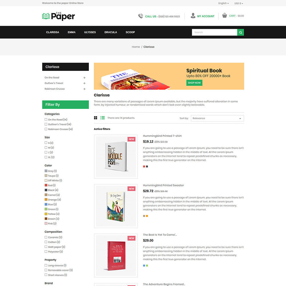theme - Art & Culture - The Paper  - Book Store - 4
