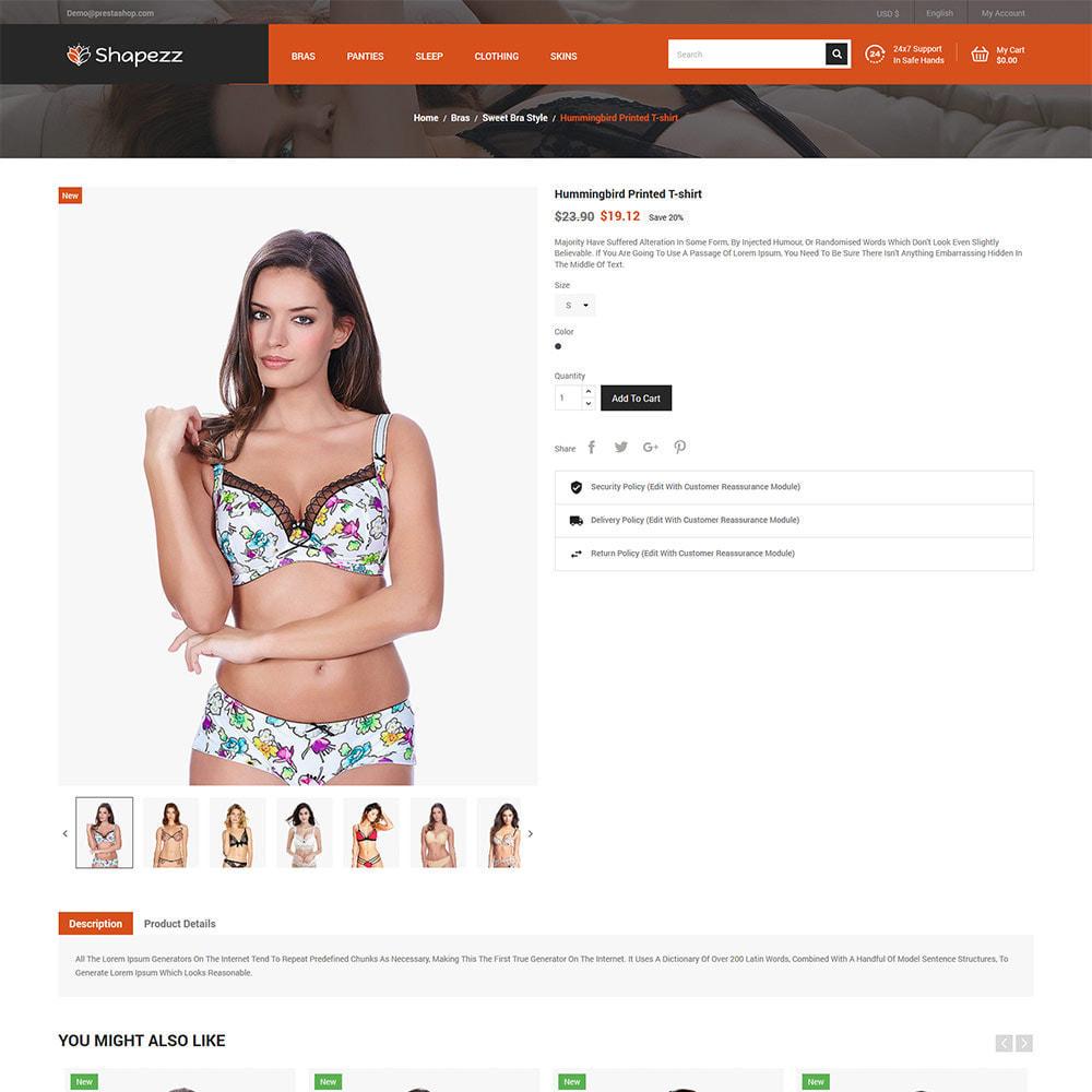 theme - Lingerie & Adultos - Shapezz Adult - Lingerie Bra Panties Store - 5