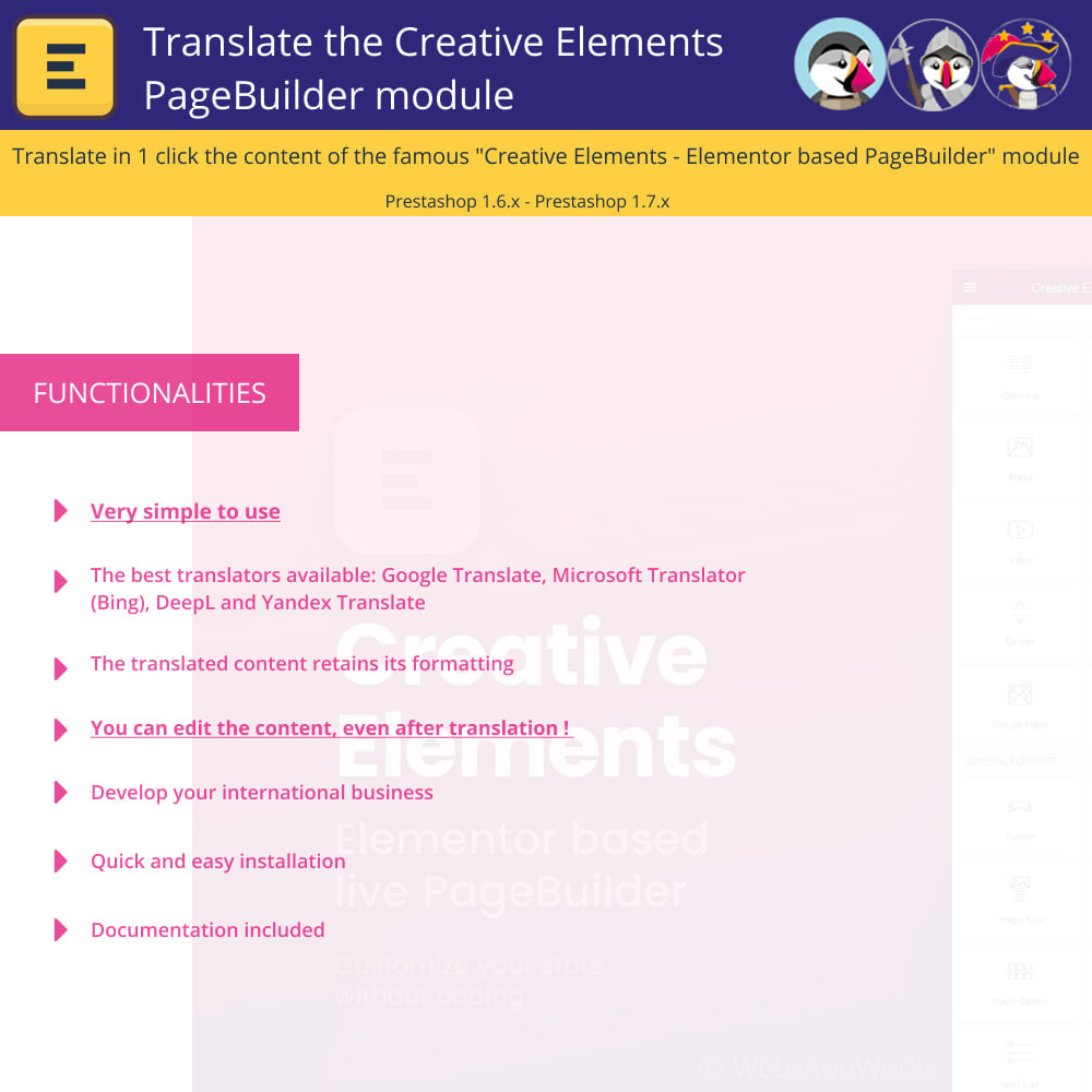 module - International & Localization - Translate The Creative Elements PageBuilder - 1
