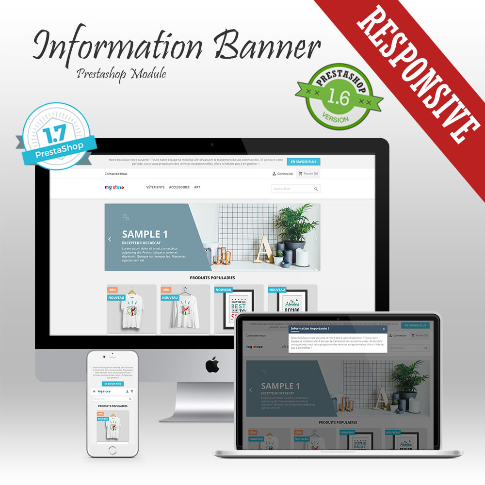 module - Blocks, Tabs & Banners - Information banner - 1
