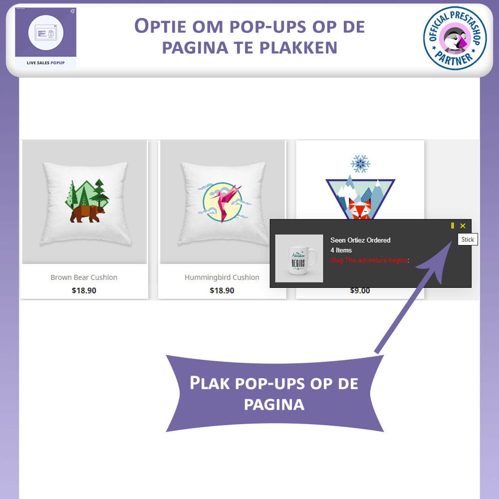 module - Dialoogvensters & Pop-ups - Live Sales Popup - 2