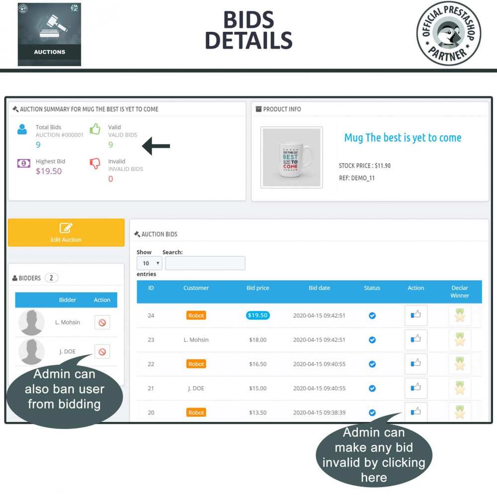 module - Criar um site de leilão - Auction Pro, Online Auctions & Bidding - 14