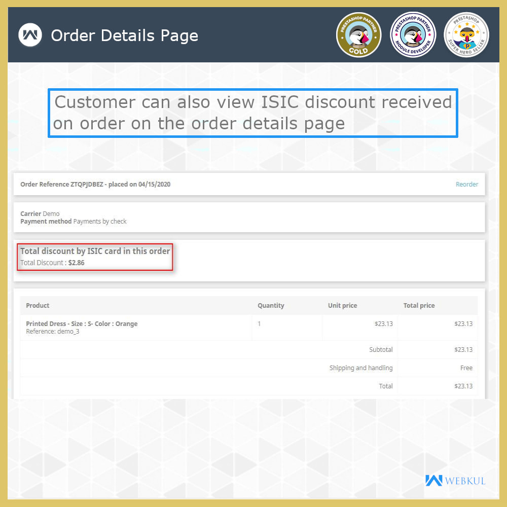module - Promotions & Gifts - ISIC Student Discount   Discount for ISIC Cardholders - 6