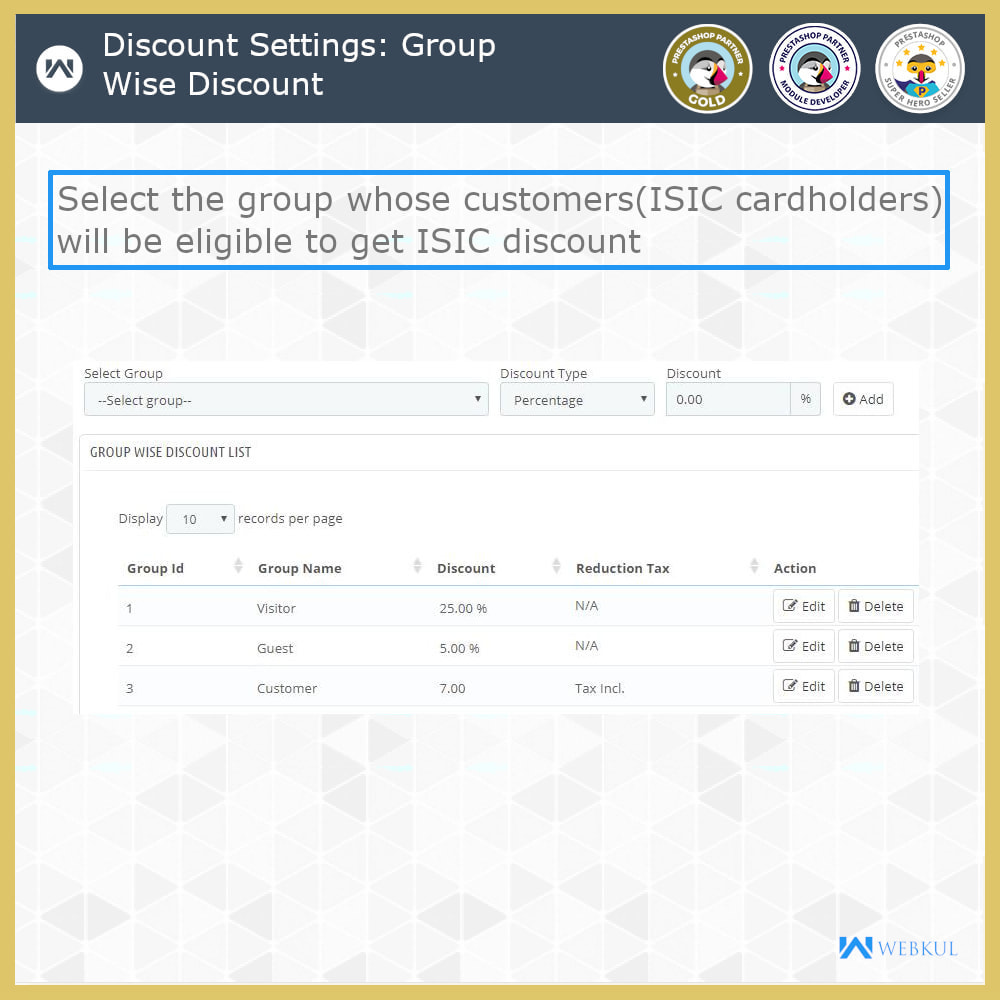 module - Promotions & Gifts - ISIC Student Discount   Discount for ISIC Cardholders - 10