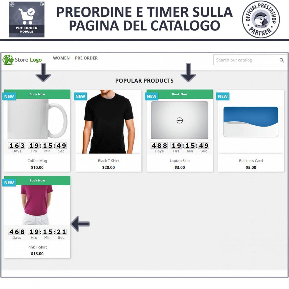 module - Iscrizione e Processo di ordinazione - Pre-ordine e lista d'attesa - 2