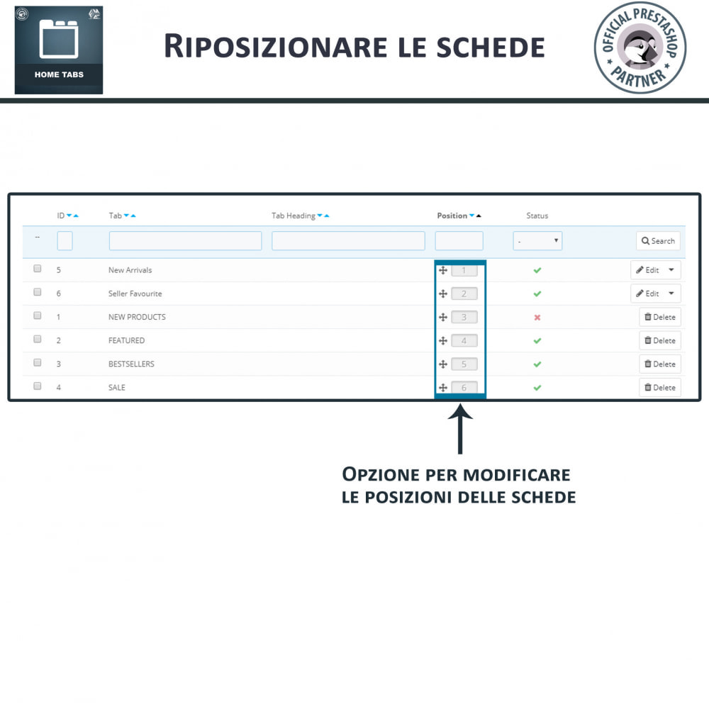 module - Blocchi, Schede & Banner - Home Tabs, Aggiungi Tab per un Ordinamento dei Prodotti - 7