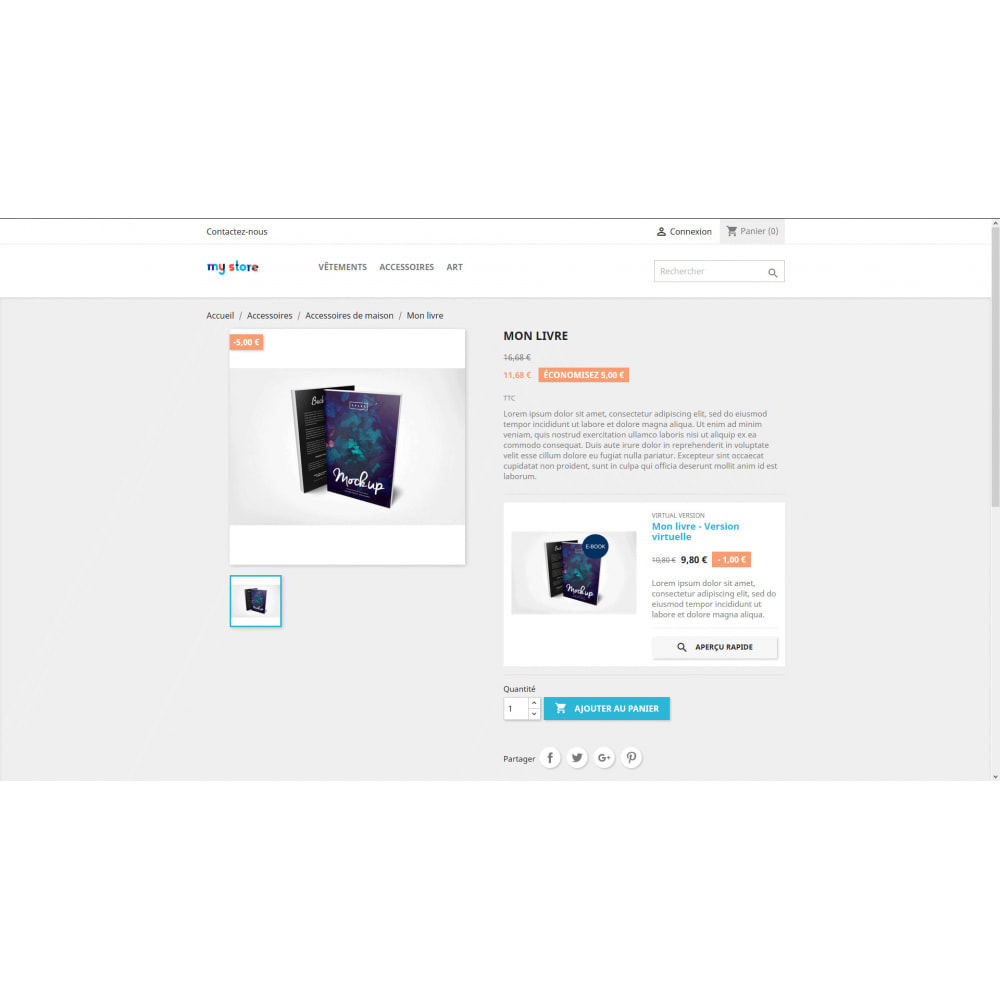 module - Produits virtuels (téléchargeables) - Simples Produits Liés - 1