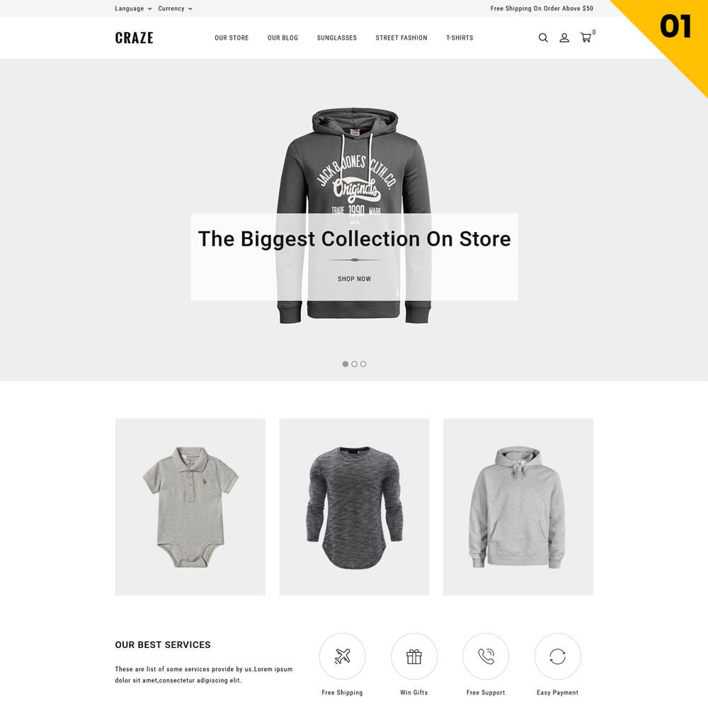 theme - Fashion & Shoes - Craze - The Multipurpose Online Store - 3