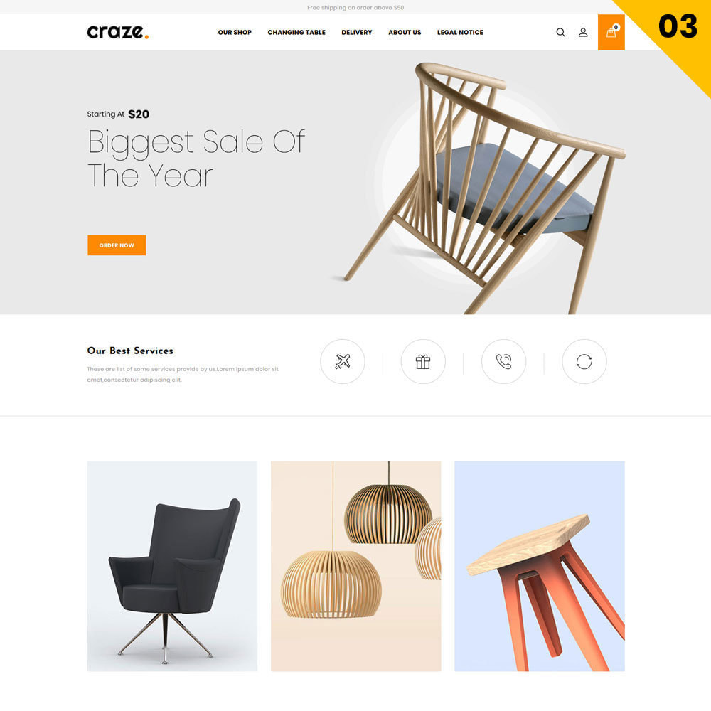 theme - Fashion & Shoes - Craze - The Multipurpose Online Store - 5