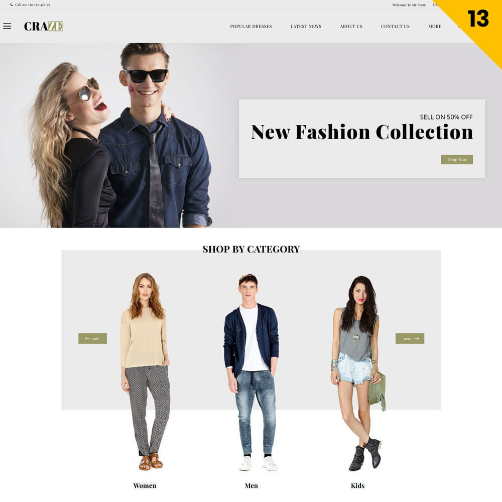 theme - Fashion & Shoes - Craze - The Multipurpose Online Store - 15