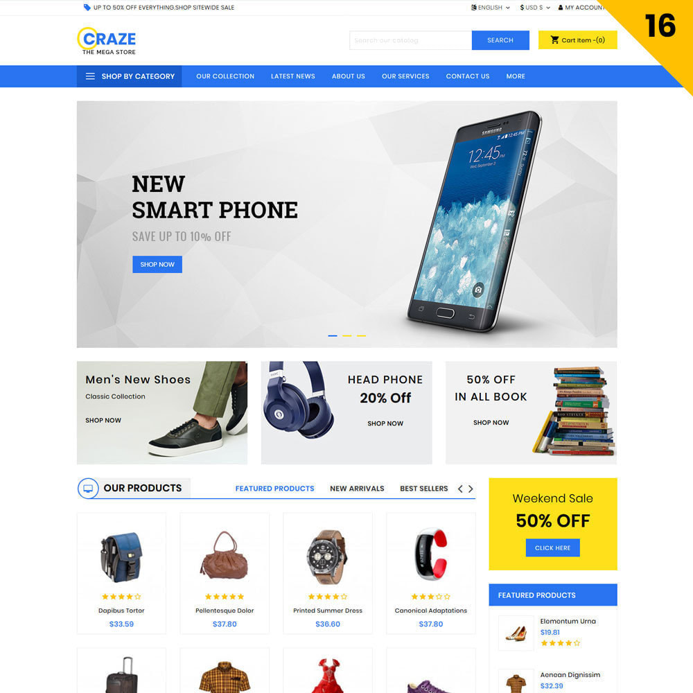 theme - Fashion & Shoes - Craze - The Multipurpose Online Store - 18