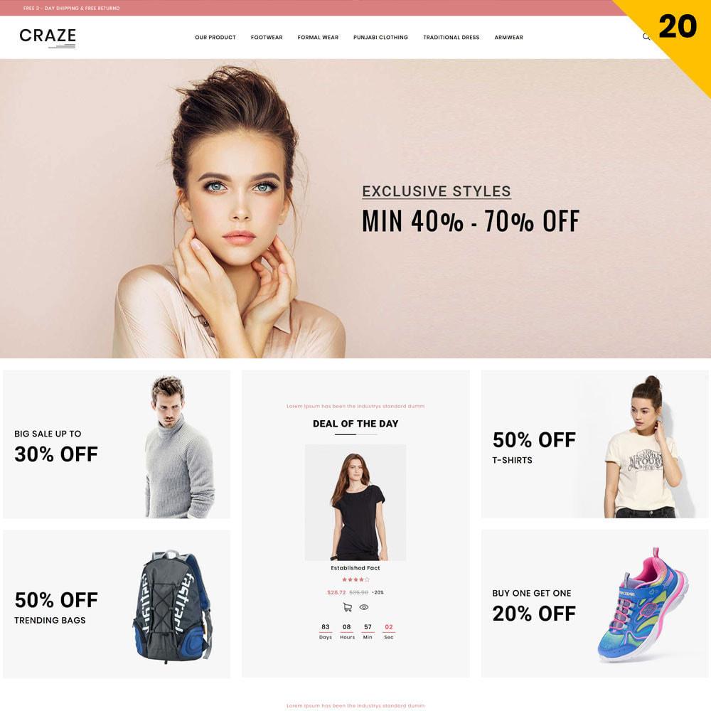 theme - Moda y Calzado - Craze - La tienda en línea multipropósito - 23