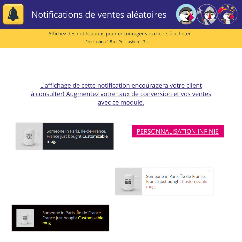module - E-mails & Notifications - Notifications de vente aléatoires - 2