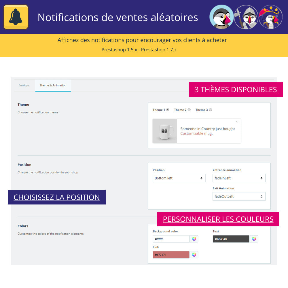 module - E-mails & Notifications - Notifications de vente aléatoires - 3