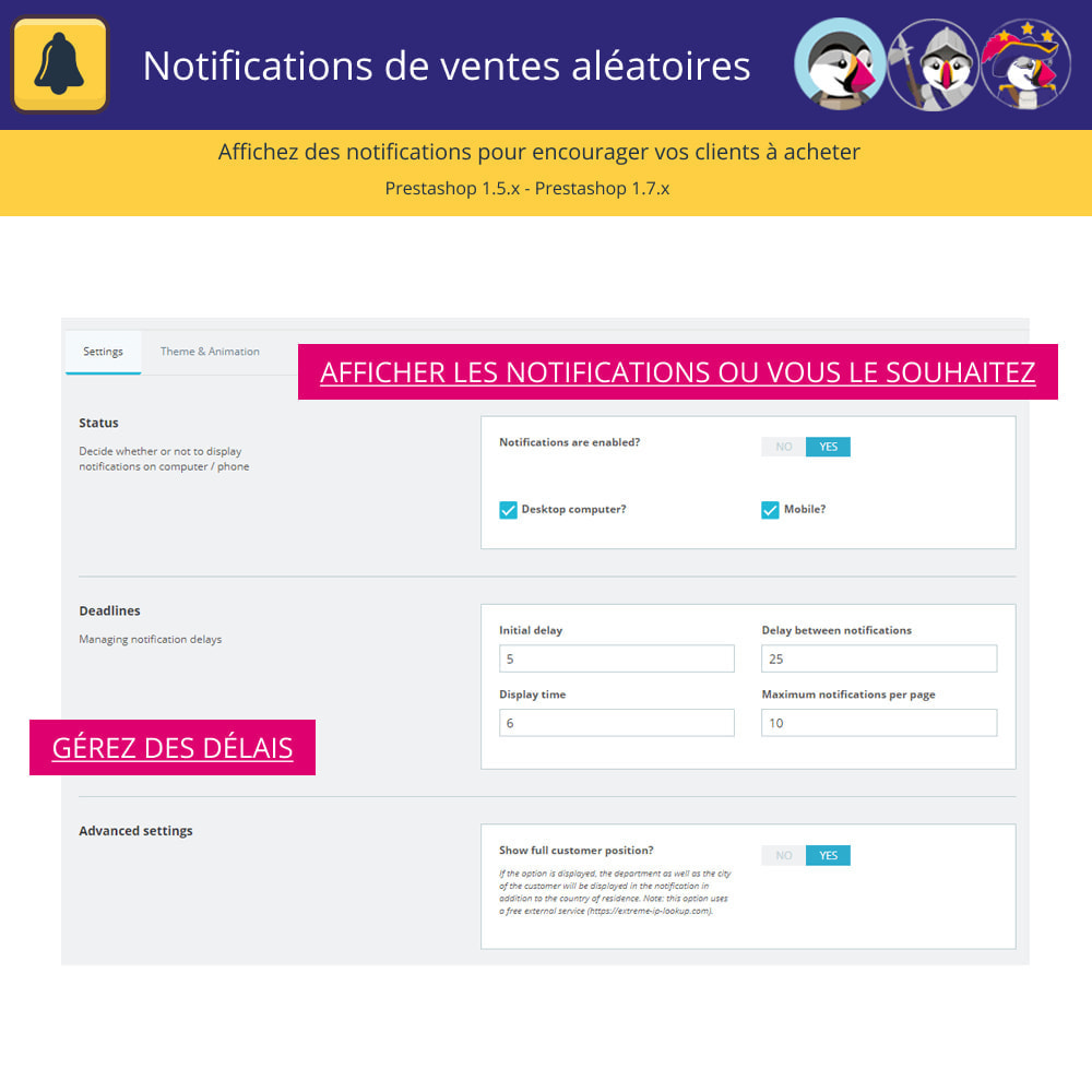 module - E-mails & Notifications - Notifications de vente aléatoires - 4
