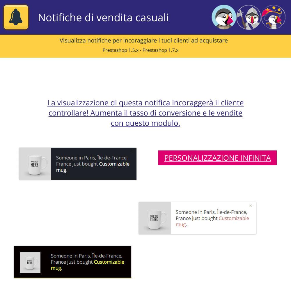 module - Email & Notifiche - Notifiche di vendita casuali - 2