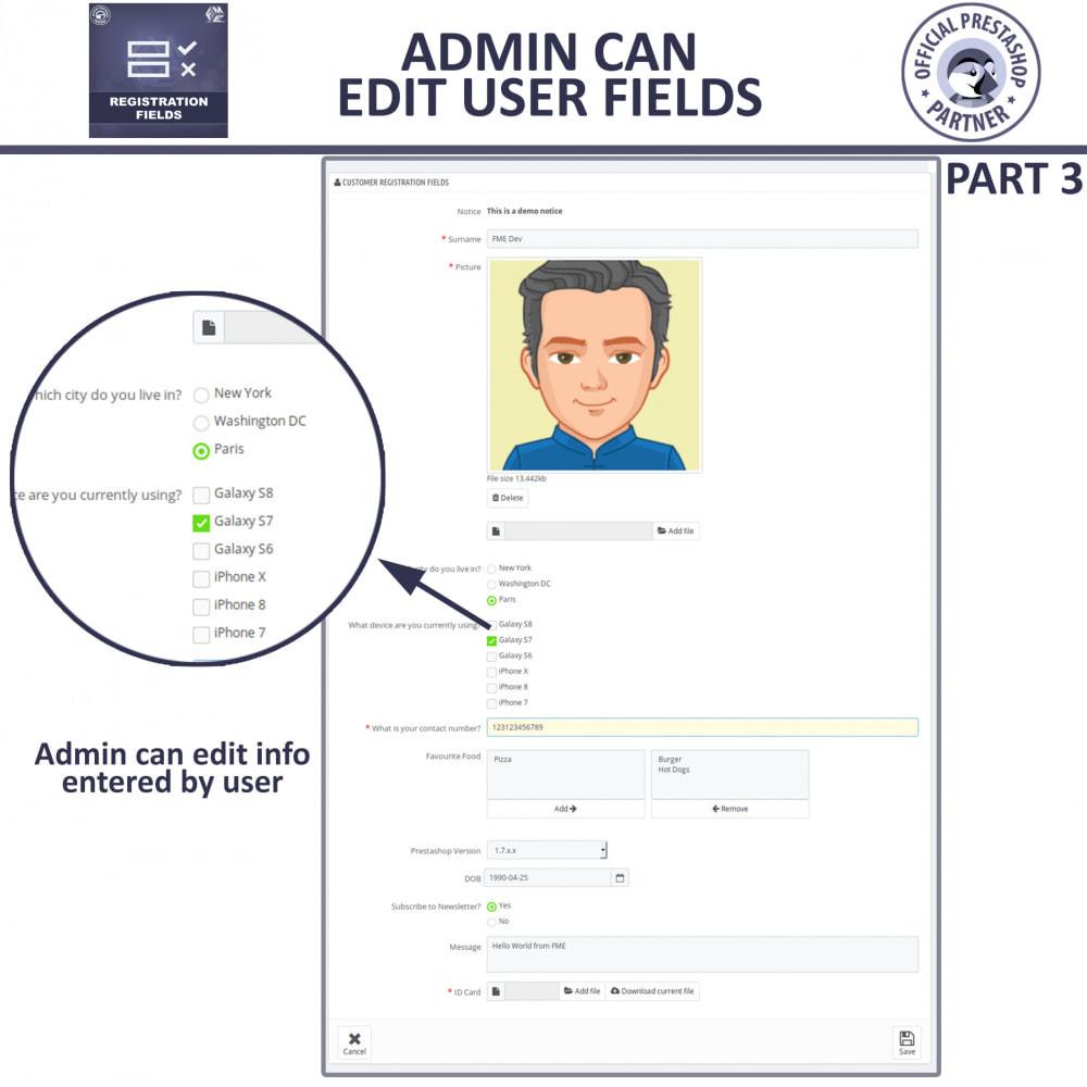 module - Cadastro e Processo de Pedido - Custom Registration Fields - Registration Validation - 10