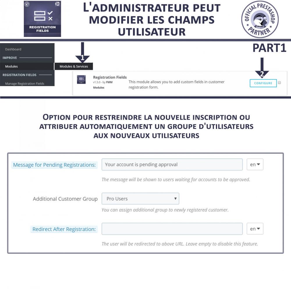 module - Inscription & Processus de commande - Champs d'inscription - Ajouter des champs personnalisés - 7