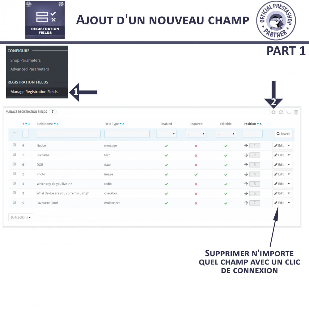module - Inscription & Processus de commande - Champs d'inscription - Ajouter des champs personnalisés - 9