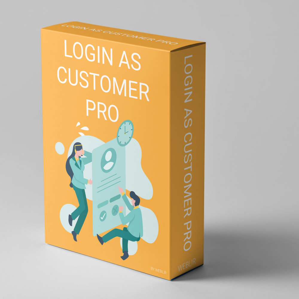 module - Login & Verbinden - Login as customer PRO - 1