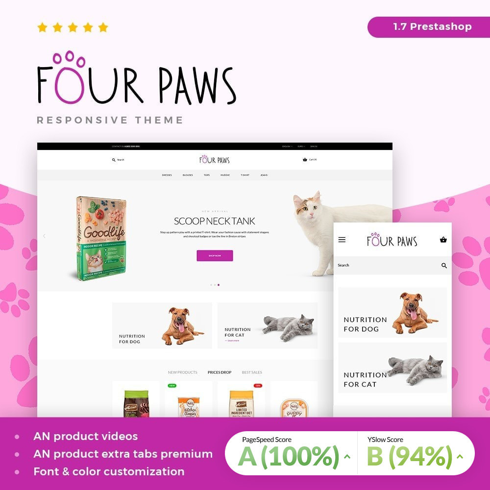 theme - Animais - Four paws - 1