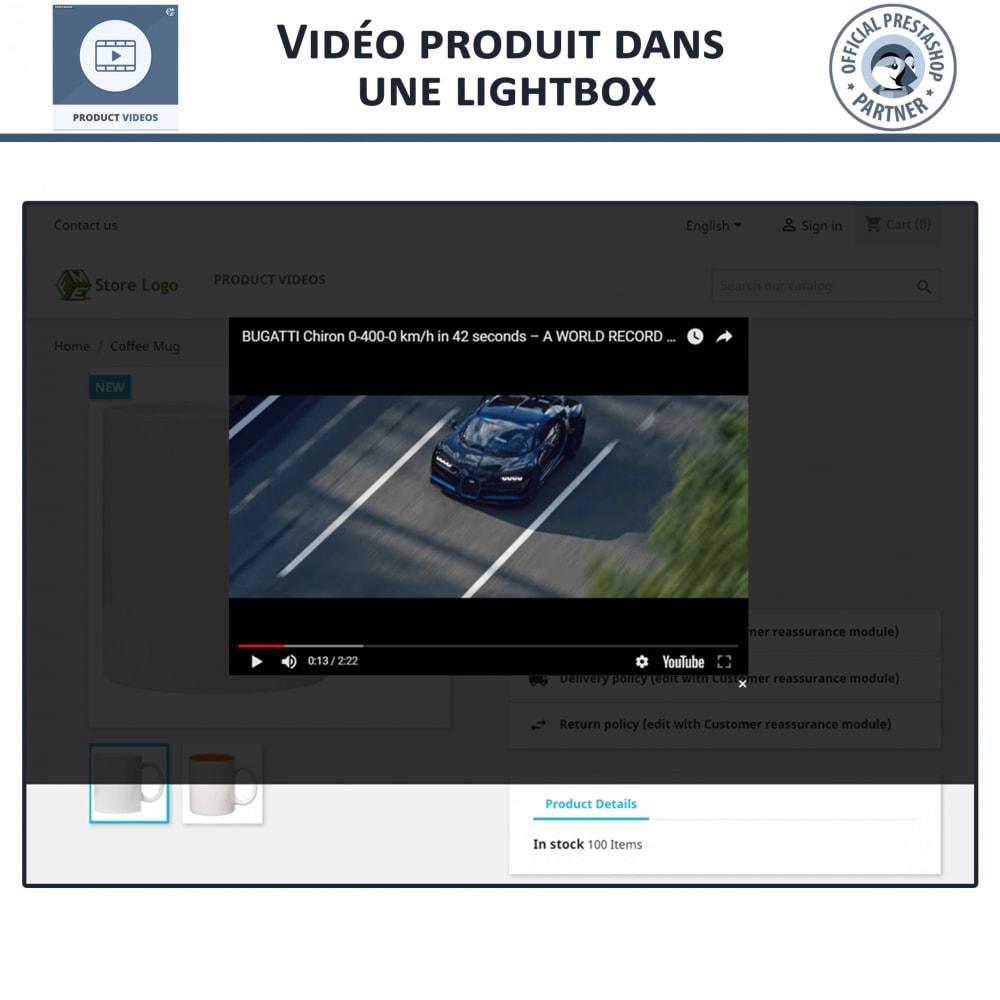 module - Vidéo & Musique - Vidéos de Produits, YouTube, Vimeo - 5