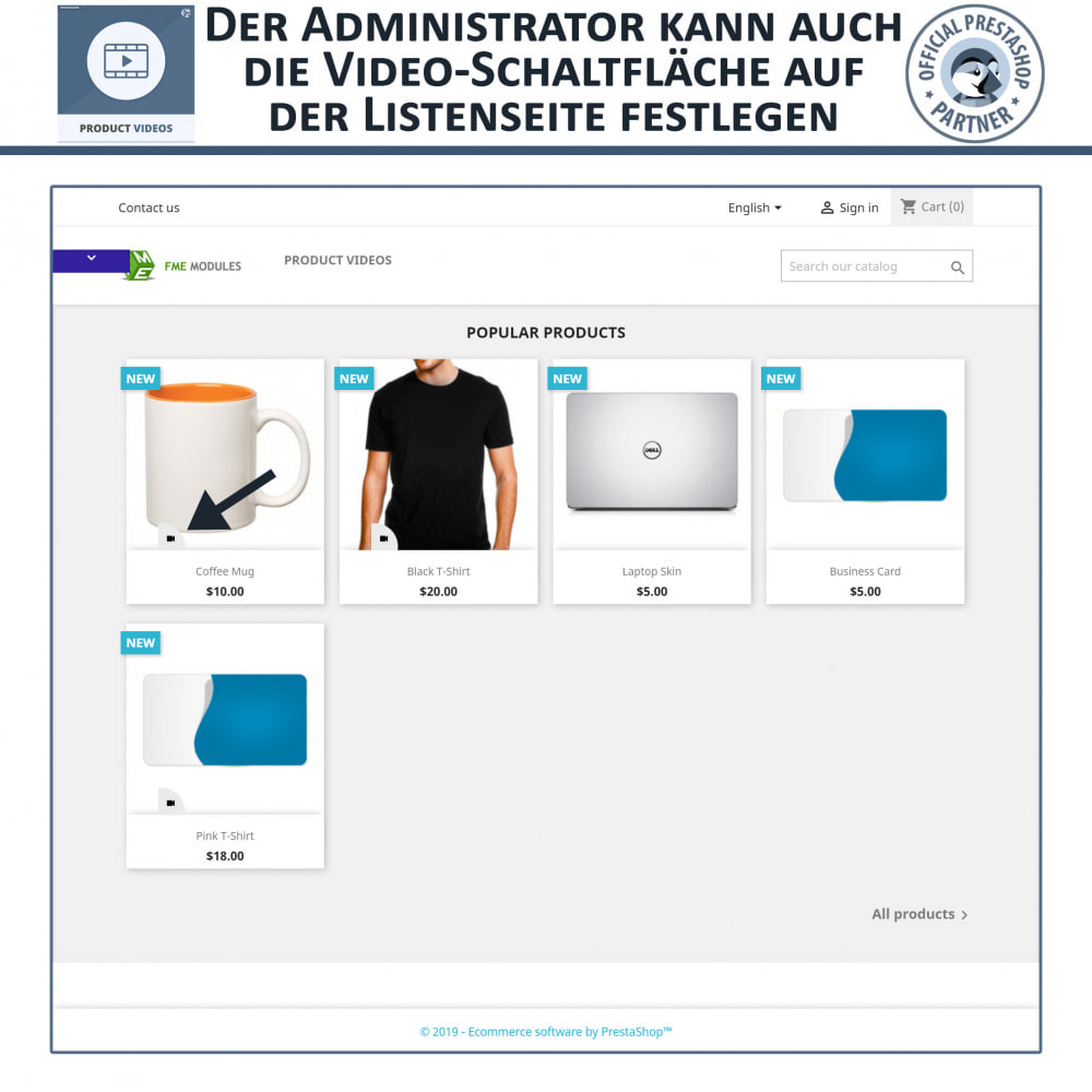 module - Videos & Musik - Product Videos - Upload or Embed YouTube, Vimeo - 2