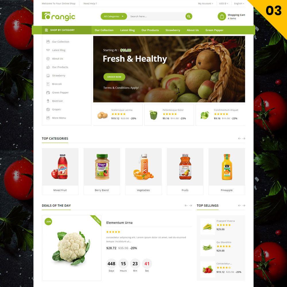 theme - Alimentation & Restauration - Orangic - Le magasin d'alimentation - 5