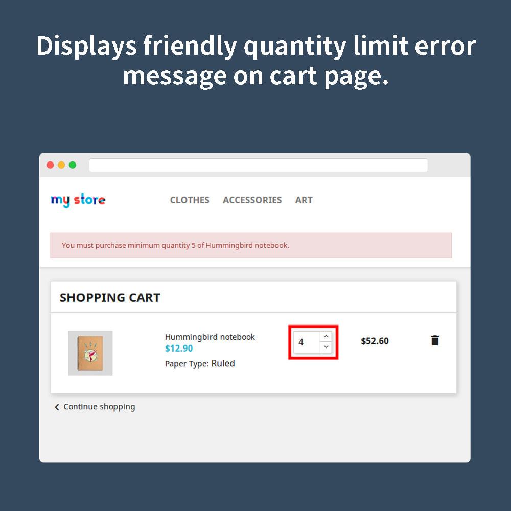 module - Iscrizione e Processo di ordinazione - Order Quantity Limit - 5