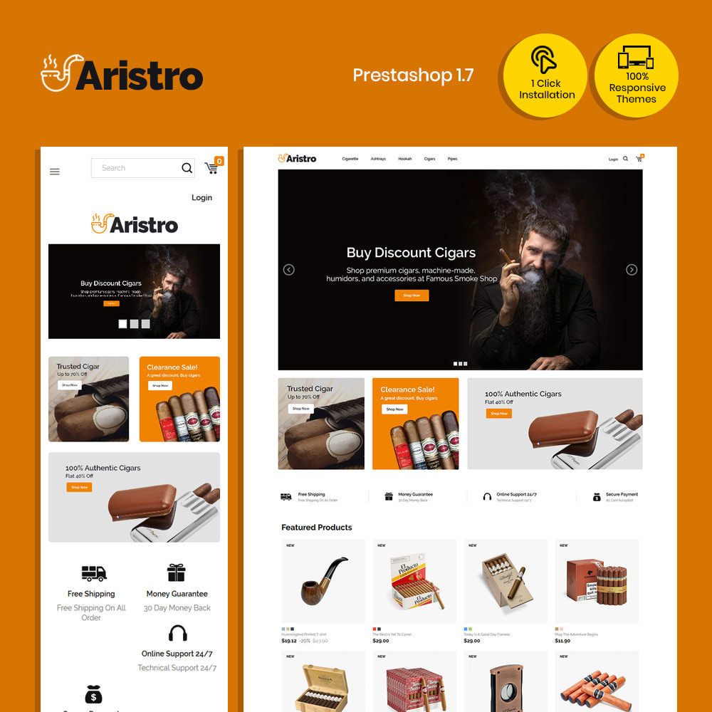 theme - Napoje & Wyroby tytoniowe - Aristo Drink - sklep z cygarami - 1