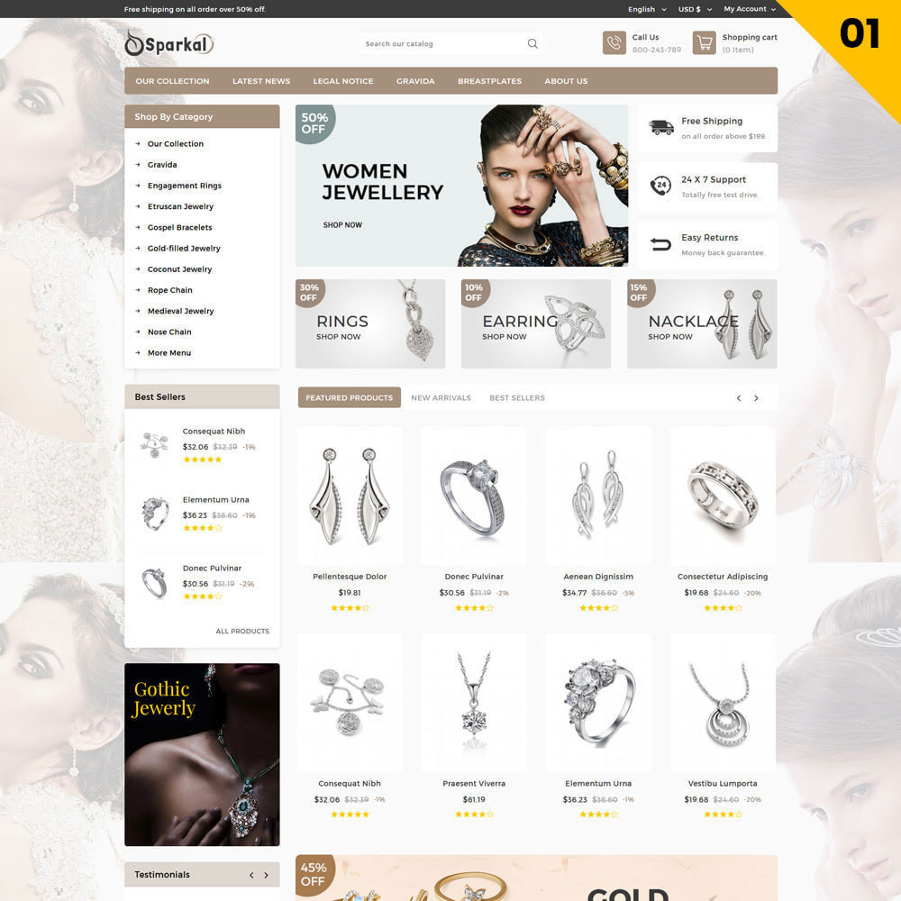 theme - Schmuck & Accesoires - Sparkal - The Jewellery Shop - 3