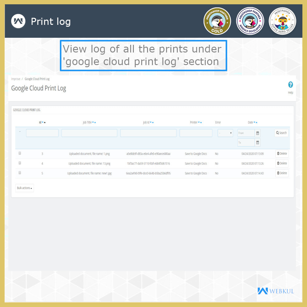 module - Preparation & Shipping - Google Cloud Print - 10