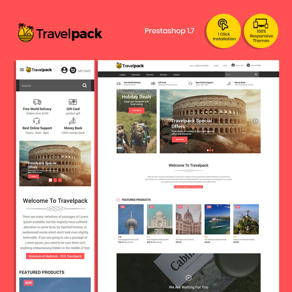 theme - Sports, Activities & Travel - Amazing Online Ticket Booking - Travel Store - 1