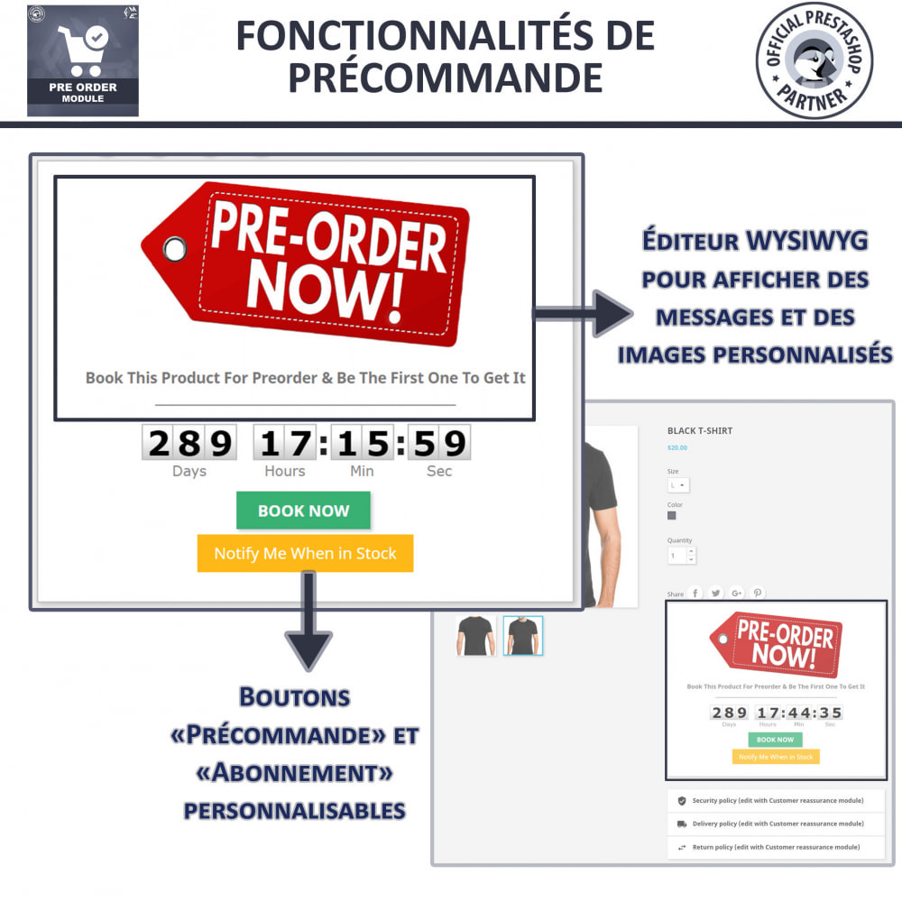 module - Inscription & Processus de commande - Pre Order & Waiting List Notification - 4