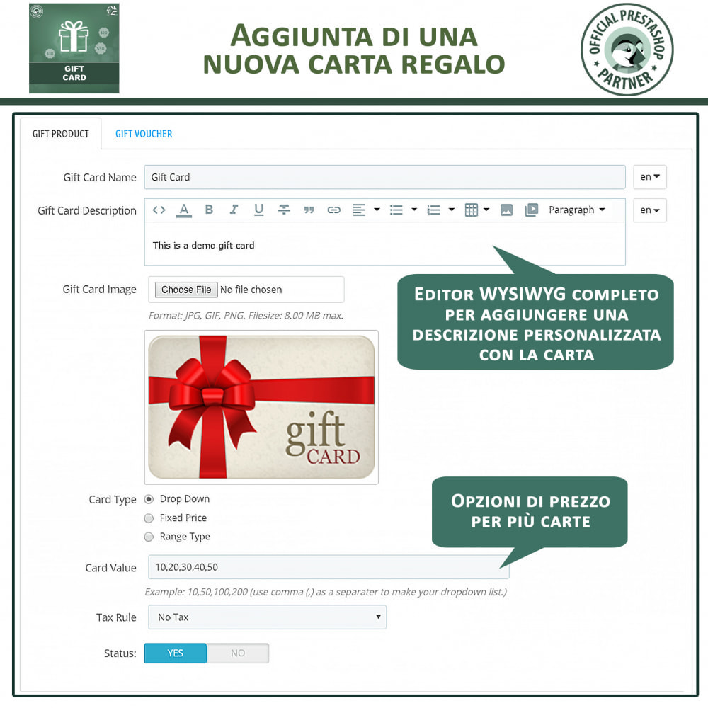module - Whishlist & Gift Card - Carta Regalo - 7