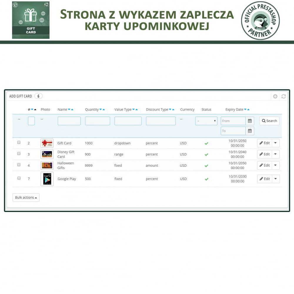 module - Lista życzeń & Karta podarunkowa - Karta Podarunkowa - 10