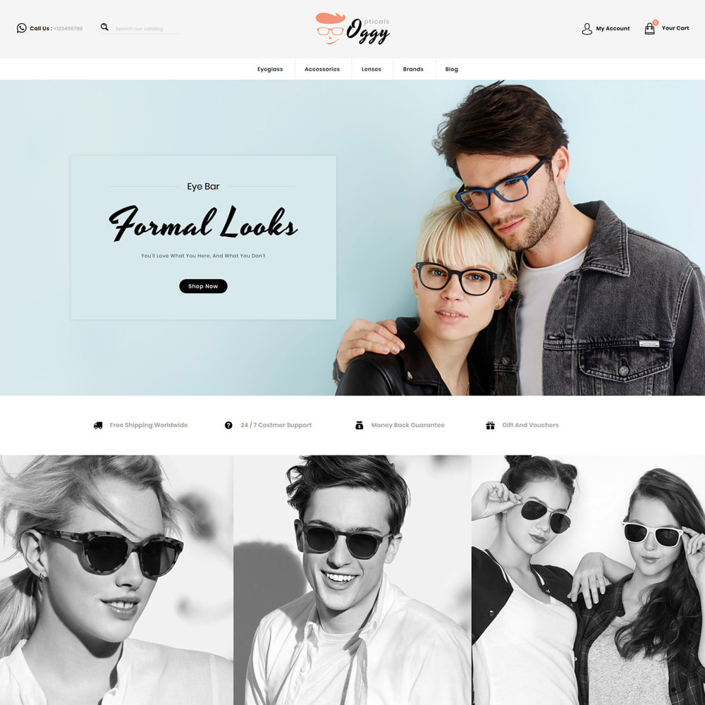 theme - Bellezza & Gioielli - Oggy - Opticals Shop - 2