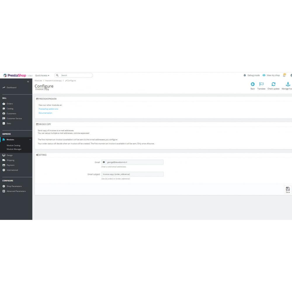 module - Бухгалтерии и выставления счетов - Счет pdf электронная почта копия - 3