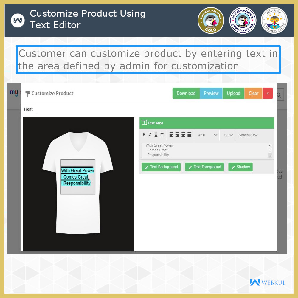 module - Bundels & Personalisierung - Web To Print -  Product Customize - 3