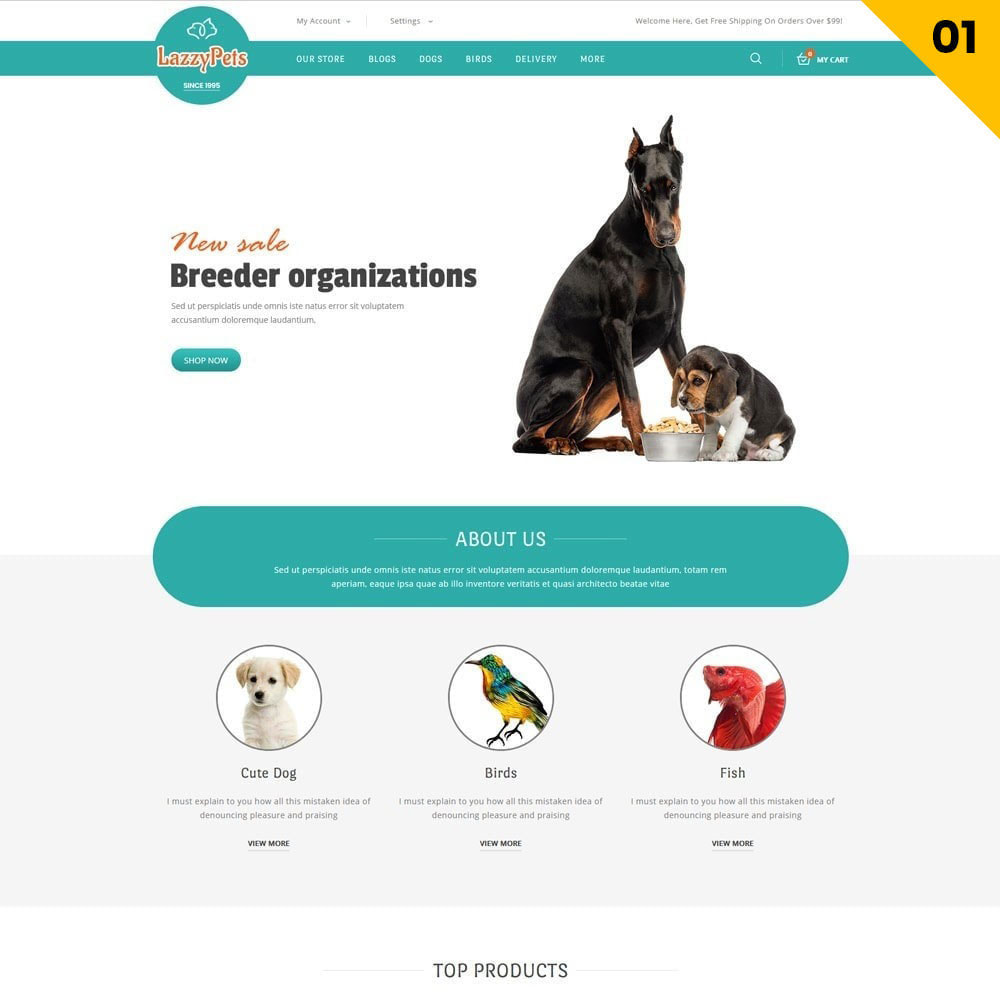 theme - Animais - lazzypets - The Animal Store - 3