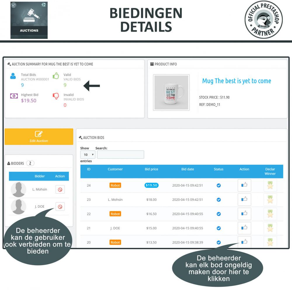 module - Bouw een veilingsite - Auction Pro, Online veilingen en biedingen - 28