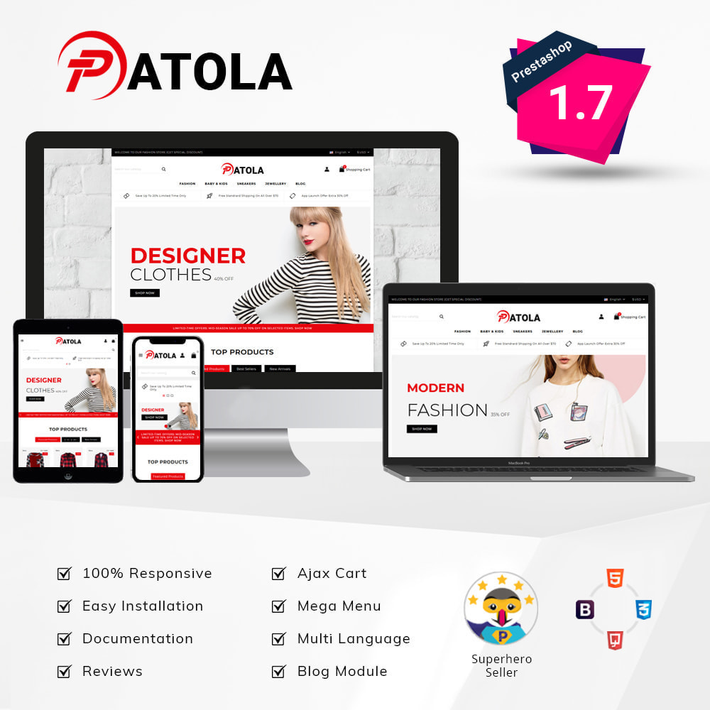 theme - Fashion & Shoes - Patola - Fashion Store - 1