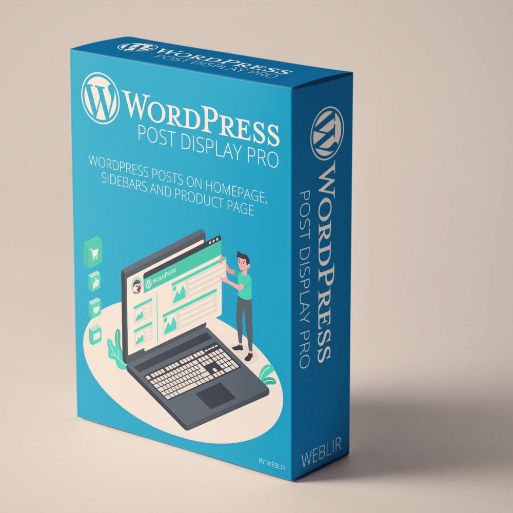 module - Blog, Forum & News - WordPress blog post display PRO - 1