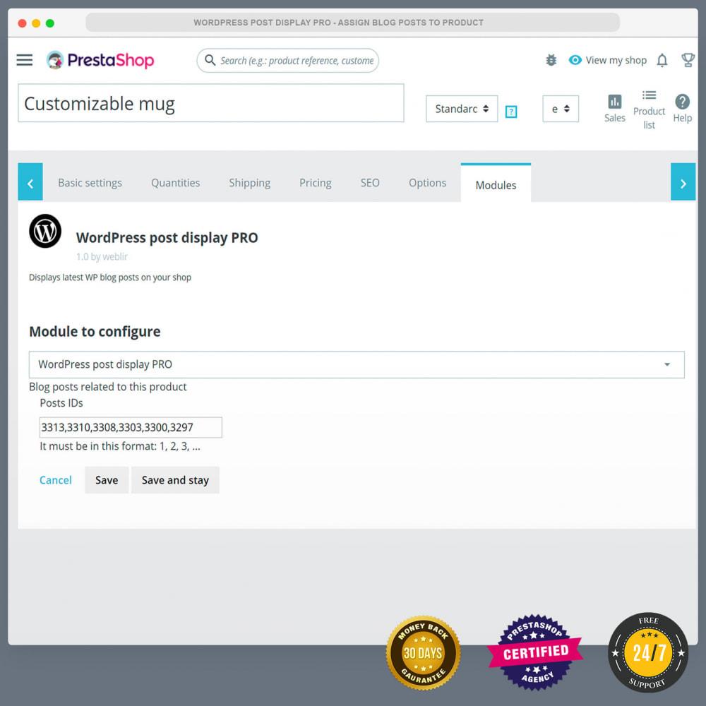 module - Blog, Forum & News - WordPress blog post display PRO - 5