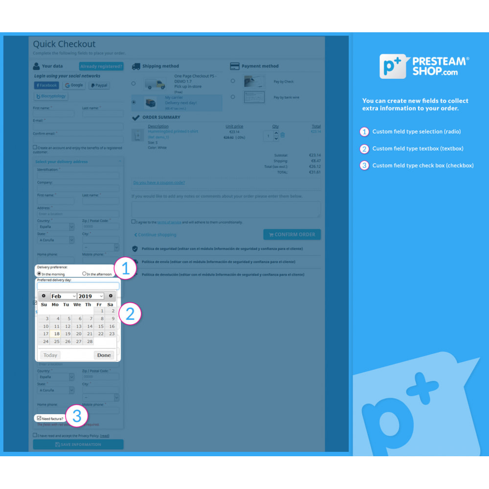 module - Processus rapide de commande - One Page Checkout PS (Easy, Fast & Intuitive) - 5
